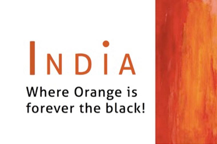 Orange has always been the Black in Indian Decor