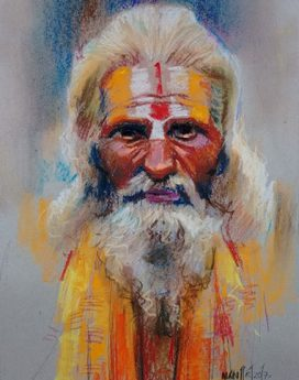 buy sadhu artwork online | Cubspaces