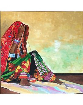 Indian village life painting online