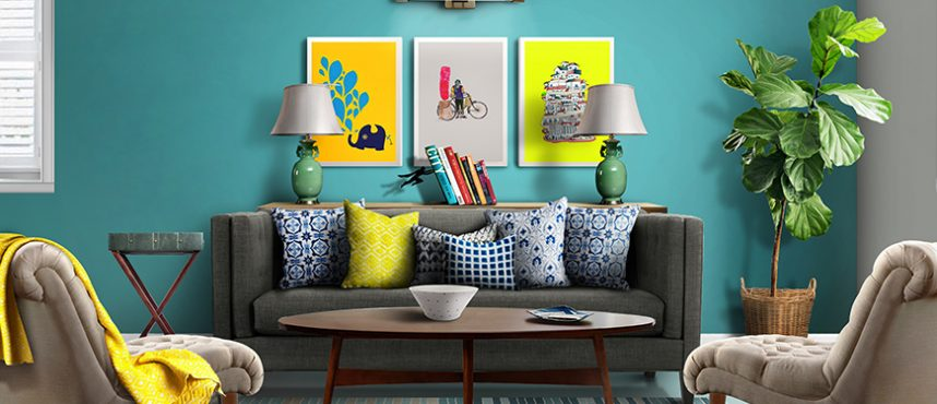CUBS Design Stories: Bright & Bold Yellow pop in a Living Room