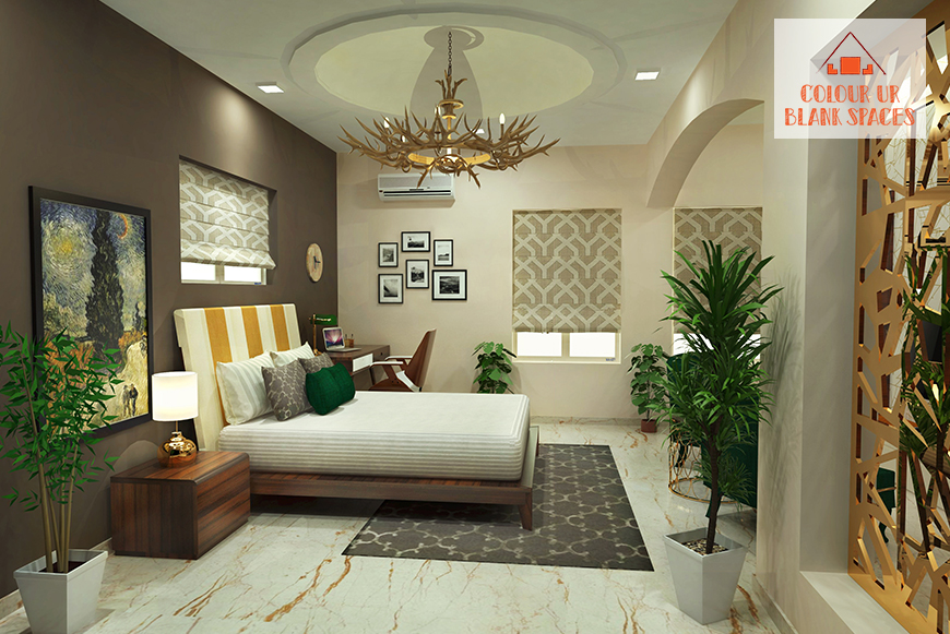 CUBS Design Stories: A Luxurious Gold and Emerald Green Bedroom Design.