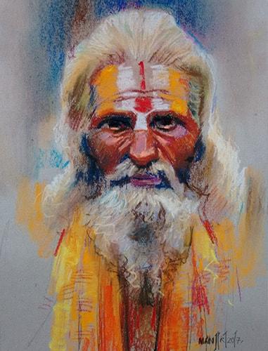 buy sadhu artwork online | Cubspaces