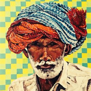 Turban canvas painting online in India