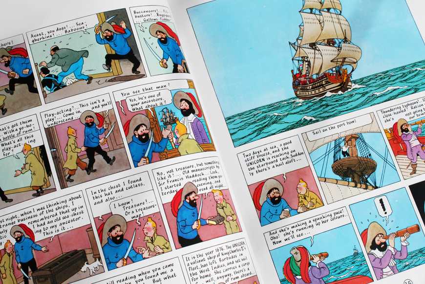 Lily Livered Landlubbers! The Fun is at Sea (with apologies to Haddock and Herge)