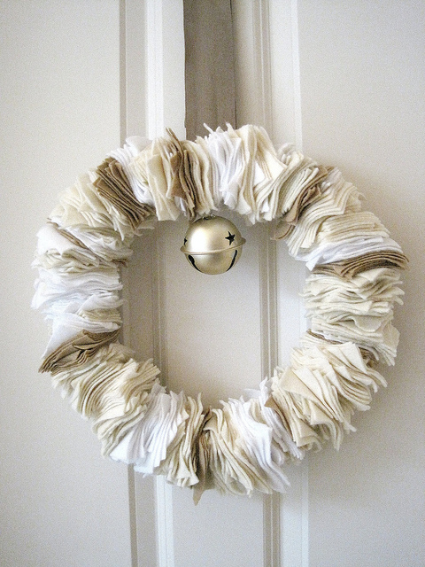 Felt Square Wreath For Christmas Decor