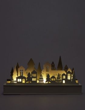 Laser Cut Christmas Village
