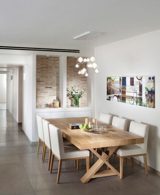 Contemporary Style Dining Room - Dining room ideas - Light ideas -