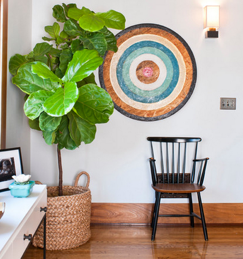 Decorating With Tall Plants - Greenery at home - Indoor Plants - Fiddle leaf Fig - Palm Fronds -