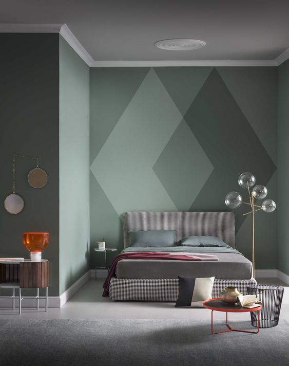 Accent Wall - Green Wall - Contemporary interior design