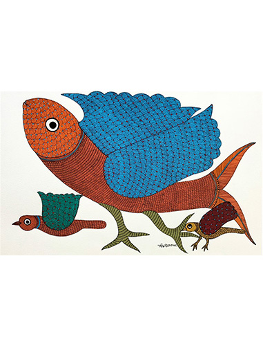 Clever Disguise - Gond Art Painting - Gond Art - Wall Art - Wall Painting - Wall Decor - Traditional Painting - Decor - Paintings - Indian Paintings