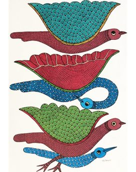 Flight Of Hope - Gond Art Painting - Gond Art - Wall Art - Wall Painting - Wall Decor - Traditional Painting - Decor - Paintings - Indian Paintings