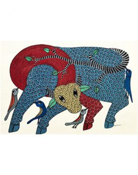 Red Light Green Light - Gond Art Painting - Gond Art - Wall Art - Wall Painting - Wall Decor - Traditional Painting - Decor - Paintings - Indian Paintings