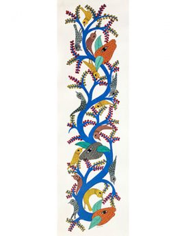 Spring - Tree Of Life - Gond Art Painting - Gond Art - Wall Art - Wall Painting - Wall Decor - Traditional Painting - Decor - Paintings - Indian Paintings