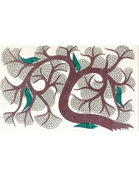 Hide and Seek - Gond Art Painting - Gond Art - Madhya Pradesh - CUBS - Colour ur blank spaces - Wall Art - Wall Paintings