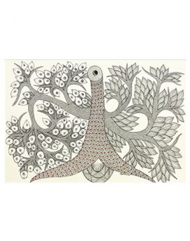Monochromatic Symmetry - Gond Art Painting - Gond Art - Wall Art - Wall Painting - Wall Decor - Traditional Painting - Decor - Paintings - Indian Paintings