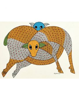Playful Afternoon - Gond Art Painting - Gond Art - Wall Art - Wall Painting - Wall Decor - Traditional Painting - Decor - Paintings - Indian Paintings