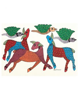 A World At Peace - Gond Art Painting - Gond Art - Wall Art - Wall Painting - Wall Decor