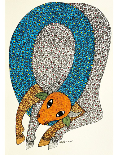 Who Am I? - Gond Art Painting - Gond Art - Wall Art - Wall Painting - Wall Decor - Traditional Painting - Decor - Paintings - Indian Paintings