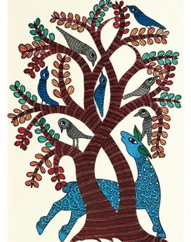 Harmony - Gond Art Painting - Gond Art - Wall Art - Wall Painting - Wall Decor - Traditional Painting - Decor - Paintings - Indian Paintings