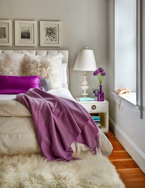 Purple room design - purple design - interior design - colour in interior design