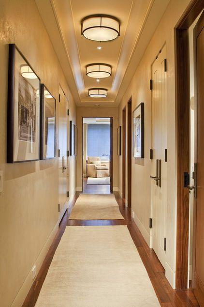 Passageway - corridor - chandelier - traditional - transitional