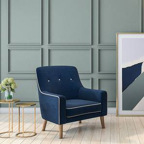 Urban Ladder - lounge chair - blue chair - yellow chair - armchair - living room design - living room chair - tufted back